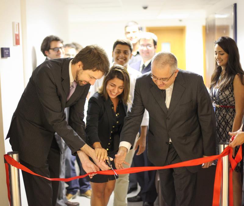 Inauguração de empresa júnior no Ibmec (Foto: Divulgação/CEI)